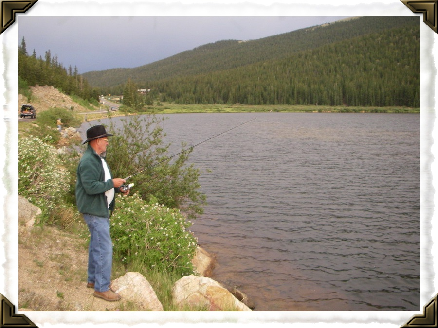 Fishing at Echo Lake, Colorado